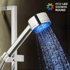 Ducha con Luz Eco Led Shower Redonda