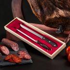 Cuchillo Jamonero y Afilador (Estuche Madera)